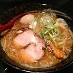麺処 蓮海 - 鮪豚骨味噌+味玉(700+100円)