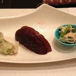 和亨 - たらのめの天ぷら 椎茸 小松菜と筍の和え物