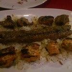 トルコ料理 ゲリック - 上から、牛・羊・鶏の順