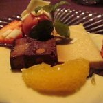 はれるや - チョコレートのブラウニー・バナナプリン・イチゴのシャーベット