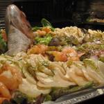 サテン ドール - 真鯛の姿造り欧風の刺身盛合わせ(パーティメニュー)