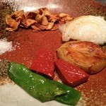 ファイブテンステーキハウス - 焼き野菜。