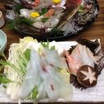旅館 高島屋 - 生タコ、お野菜のシャブシャブ