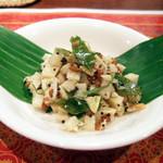 ガネーシュ - 2013春を味わうコース(4000円)の竹の子と発芽豆のスンダル