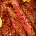 1ポンドのステーキハンバーグ タケル - リブロース 1ポンドステーキ ミディアムレア