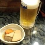 ろばた焼 幸村 - ビールとお通し