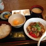 くうたろう - 鶏の甘煮?定食 ¥550