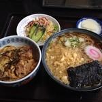 18629851 - ミニカツ丼とタヌキそばセット  850円