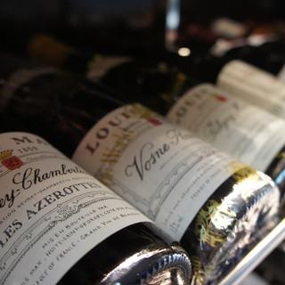 高コスパワインからグラン・ヴァンまで厳選ワイン揃ってます