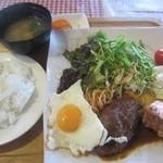 カナディアン - 料理写真:俺のオーダー♥ご飯、味噌汁も付いたランチ