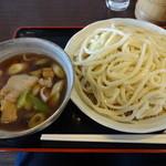 18633693 - 肉なす汁うどん(中)¥750