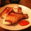 鳥清 - 料理写真:金•土曜日限定のもも焼き(カット)