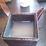増田屋 - 蕎麦湯。
