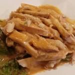 18639701 - 棒々鶏。砕いたナッツが入っていて香ばしさUP!