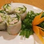 18639748 - ゴイクン(生春巻き)純ヴェトナム料理よりも少しスパイシーかも。一皿380円だったかな?
