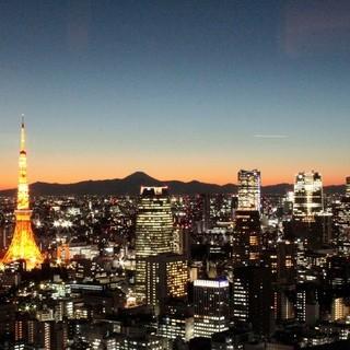 東京タワーと東京のパノラマが一望できるメインダイニング