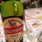 アヌサ - インドのビール・キングフィッシャー580円