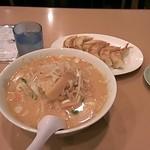 18647024 - 味噌ラーメン・餃子の黄金コンビ