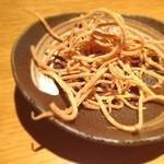 慶水 - サービスの蕎麦揚げ