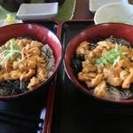 友福丸 - 並盛ウニ丼(2000円)と、大盛ウニ丼(2900円)