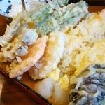 天婦羅 たる松 - 2013年4月。天ぷらの盛り合わせ(1,700円也)。変わらぬ旨さでした