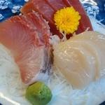 天婦羅 たる松 - 2013年4月。刺身定食【上】950円の刺身クローズアップ