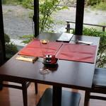 山田屋旅館 - 本日のディナーは窓際の席で。