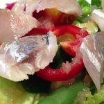 メリディオナーレ - 野菜サラダ wt 金沢産アジのマリネ