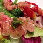 メリディオナーレ - 野菜サラダ wt 金沢産マカジキのカルパッチョ