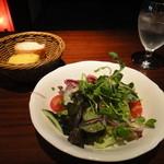 18658610 - Aランチのサラダとパン