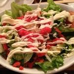 通天閣 もつ鍋屋 - 明太子サラダ。