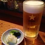 ばるぼら屋 - 生ビール(550円)