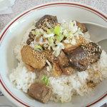 桃園 - 豚の角煮ご飯1,040円