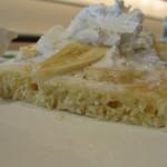 カフェ バニヤン - バナナクリーム パンケーキ カット