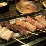 茶き茶き - 串焼き5本盛り合わせ934円