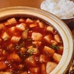 中国料理 百楽 - 麻婆豆腐¥700と、ライス小¥150