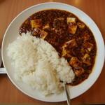 18672087 - 麻婆豆腐かけご飯