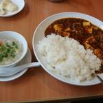 18672088 - 麻婆豆腐かけご飯