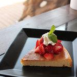 うえき屋カフェ272 - イチゴのチーズケーキ