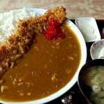 <民宿>しをみ食堂 - カツカレー750円