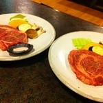 やきにくべこ膳 - オススメの厚切りステーキ