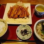 ゆうゆう亭 - エビフラッシュ(普通のお皿で出てきたので超ガッカリ((((;゚Д゚)))))))