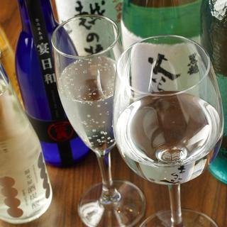 ワイングラスで美味しい日本酒がお勧め!
