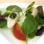 1868171 - 前菜:刀根鶏ササミとポワローのサラダ