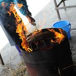 黒潮一番館 - 藁焼き中
