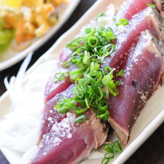 黒潮一番館 - 料理写真:カツオのタタキ定食
