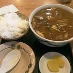 18686550 - カレーうどん(¥800円)、ライス小(¥200)