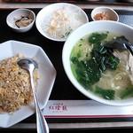 18689036 - 紅燈籠セット(鶏がらスープ麺) 780円