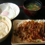 お食事処 鶴の恩返し - 豚みそ定食