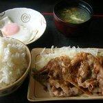 お食事処 鶴の恩返し - 生姜焼き定食(ご飯大盛り)